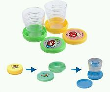 Set of 2 Folding Collapsible Magic Cup - Mug Glass for Travel, Outdoors, Hiking