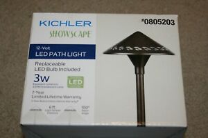 Kichler 3-Watt Olde Bronze Low Voltage Hardwired LED Path Light