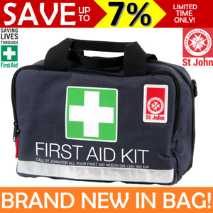 NEW St John Ambulance Medium First Aid Kit Work Travel Family Bag COMPLIANT