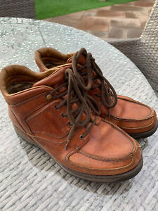 Men's rockport gortex boots size 9 Leather Brown