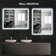 """35""""x27"""" Anti-Fog Mirror Bathroom Led Smart Touch Makeup Vanity Mirror Dimmable"""