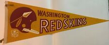 1960's Washington Redskins Full Size Felt Pennant Single Bar Spear Helmet NFL