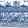 Abbey Blue & white floral 100% cotton Fabrics by Anna Bella for dressmaking