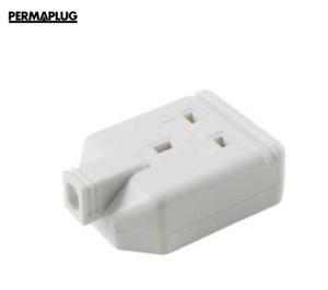 Permaplug 13A 1 Gang Trailing Socket White - Extension Lead Socket White