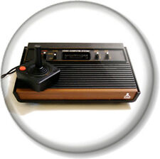 "Atari Game Console & Controller 25mm 1"" Pin Button Badge Video Retro Gamer Geek"