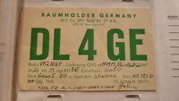 OLD VINTAGE QSL HAM RADIO CARD POSTCARD, BAUMHOLDER GERMANY 1956