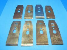 """parts - lot of 8 chip breakers or cap irons for 2"""" Stanley or other wood planes"""