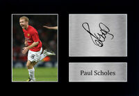 Paul Scholes Signed A4 Framed Printed Autograph Manchester United Print Gift