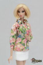 "ELENPRIV floral printed blouse for Fashion Royalty FR2 12"" Poppy Parker dolls"