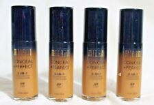 Lot of 4 Milani Conceal + Perfect 2-in-1 Foundation + Concealer Tan 09 NEW 1 oz