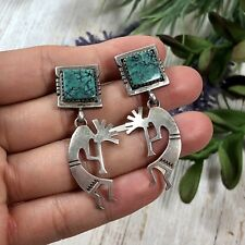 1970's Nevada Turquoise Kokopelli Earrings