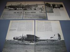 VINTAGE..P-61 BLACK WIDOW ..HISTORY/PHOTOS/NOSE ART..RARE! (449E)