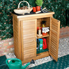 Outdoor Solid Wooden Storage Cabinet Garden Tools DIY Storage Cabinet Organiser