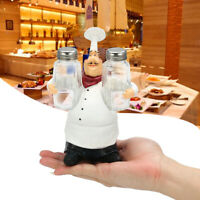 Kitchen Spice Bottle Restaurant Resin Chef Figurine Cafe Home Statue Decor US