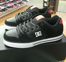 DC PURE 300660 BLACK/ATHLETIC RED BAH  LEATHER SUEDE MEN US SZ 10