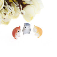 1pc Mini cute hamster animals Miniature Fairy Garden Ornament Decor Craft!w