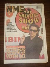 NME 1992 MAR 21 U2 BONO NYMPHS NIRVANA CHILI PEPPERS