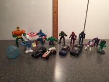 Lot Of 14 Toys Star Wars Cars Captain America Hulk Halo Smurfs MLP Aquaman
