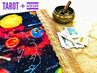 Solar Magic Spiritual Positive Energy Manifest Tarot Mat Altar Cloth Mediation