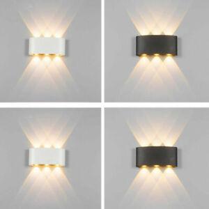 Modern LED Wandleuchte Außen Wand-Lampe IP65 Gartenleuchte Balkon Tür Licht DHL