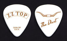 Zz Top Dusty Hill The Dust White/Gold Guitar Pick - 2012 Gang Of Outlaws Tour