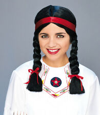 Perucke Indianerin Inka Girl Atztekin Fasching Karneval Party