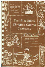 *INDIANAPOLIS IN VINTAGE *EAST 91st STREET CHRISTIAN CHURCH COOK BOOK *INDIANA