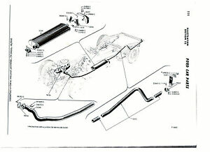 1958-1959 FORD 6 CYLINDER HARDTOP EXHAUST SYSTEM, ALUMINIZED