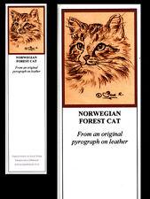 Norwegian Forest Cat Bookmark - Print from Original Art