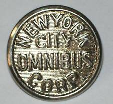VINTAGE NYC NEW YORK OMNIBUS CORP UNIFORM BUTTONS 23mm