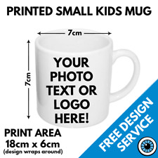 Custom Printed Childrens Mug • Kids Personalised Print Image Photo Bulk Mugs 6oz