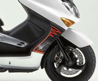 2 ADESIVI 3D compatibili per Fiancate Carena Scooter T MAX YAMAHA TMAX 2001-2007