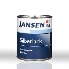 Jansen Silberlack 0,75l RAL9007 Silberpatina Silberfarbe Silber-Metallfarbe