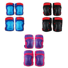 4 Pcs Soft Eva Cycling Elbow Pads Kids Outdoor Breathable Skateboard Knee Pads