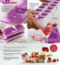 Tupperware Ice Cube Pop Out Tray Covered- with Opening Lid- 14 cubes- NEW!