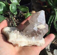 Natural Smoky Quartz Crystal Cluster On Matrix Diamond Hill South Carolina