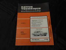 """revue technique automobile-opel """"rekord ll"""""""
