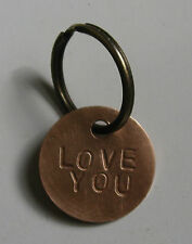 Unusual Gift Bronze Love Token Double Sided Charm Wedding Anniversary Gift