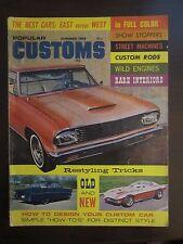 Popular Customs Magazine Summer 1965 Stingray '55 Chevy Thunderbird (KK) AI