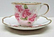 Vintage Salisbury Cup Saucer Sweet Pea Floral - Bone China