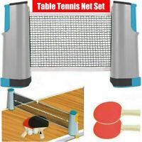 Gray Retractable Portable Net Table Tennis Set: Racket Table Tennis Set