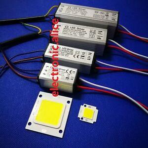 Real Watt COB High Power 20W 30W 50W 220V 110V LED lamp Integrated Chip lamp