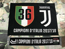 1 BANDIERA JUVENTUS UFFICIALE 100x140 + 1 SCIARPA CAMPIONE D'ITALIA 36 SCUDETTI