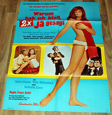 WARUM HAB ICH bloß 2x JA GESAGT Org. Plakat A1 1969 Peter Weck Heinz Erhardt