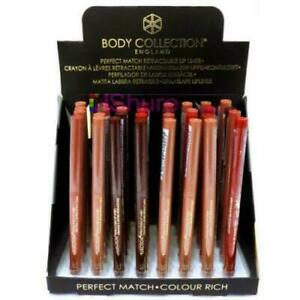 Body Collection Perfect Match Retractable Lip Liner *Choose Shade*