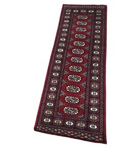 2x6 Red bokhara Runner Handknotted Lambs Wool