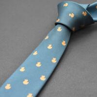 Men's Neck Tie Skinny Slim Silk Necktie Narrow Polka Dot Striped Ties