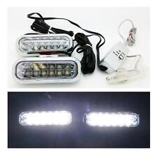 2 x LED interior reposapiés & Drl Luces 6000k Blanco luces de circulación diurna Jaguar