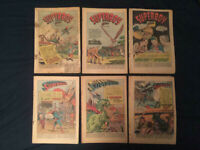 SUPERMAN, ACTION & ADVENTURE Golden Age Lot of 6 coverless comics