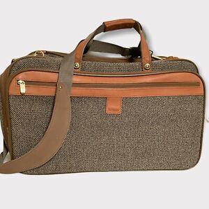 Vintage Hartmann Tweed Weekend Carry On Shoulder Bag Expandable Luggage